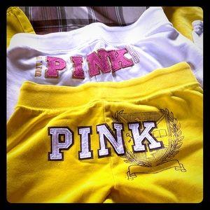 Pink Capri lounge pants